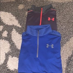 (2) Under Armour zippered pullovers